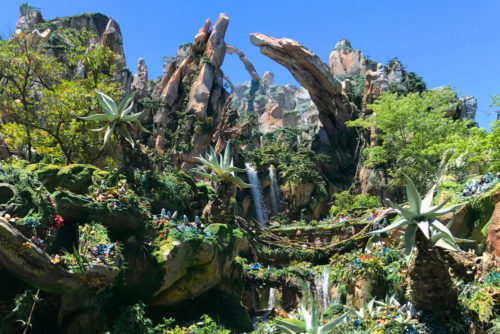 Waterfalls in Pandora Valley of Mo'ara in Disney's Animal Kingdom