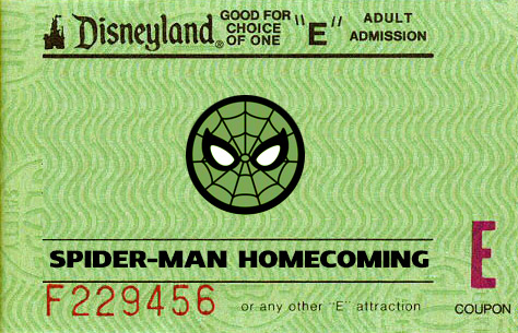 Disneyland E-Ticket Rating for Spider-Man Homecoming