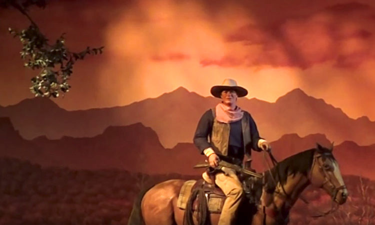 John Wayne in the Great Movie Ride Cowboy Scene