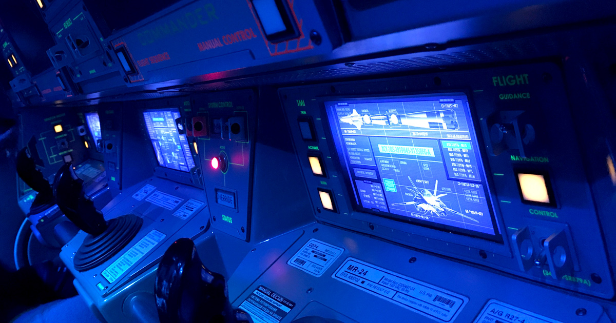 Inside the training capsule at the relaunched Mission Space