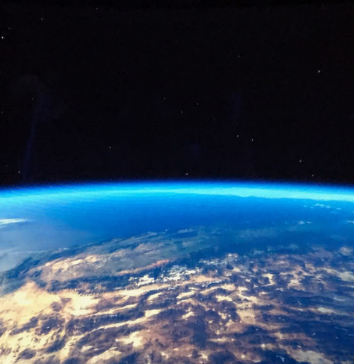 The Earth as seen from the Green Team mission in the relaunched Mission Space