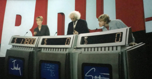 Stupid Judy, Einstein, and Ellen Degeneres play Jeopardy