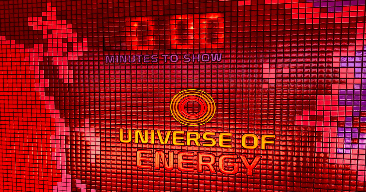 The preshow countdown clock to the Universe of Energy