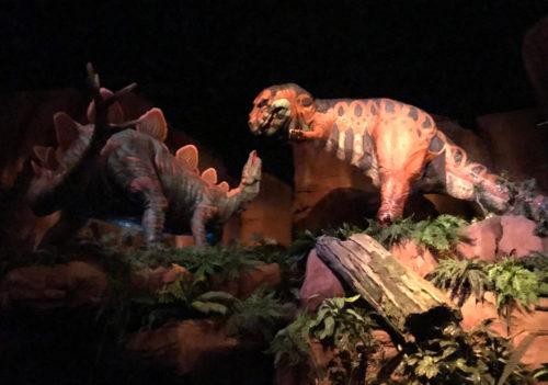 Stegosaurs vs. the T-Rex at Ellen's Energy Adventure