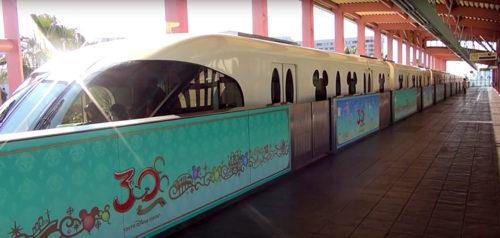 Tokyo Disney Monorail Station Platform