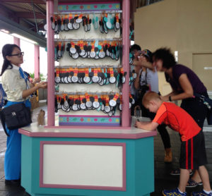 Tokyo Disney monorail station wish kiosk for Tokyo DisneySea's 15th Anniversary