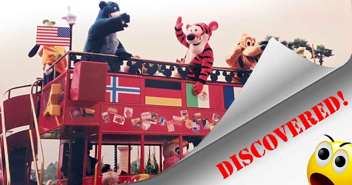 The Epcot Characters on Holiday double-decker bus has been rediscovered