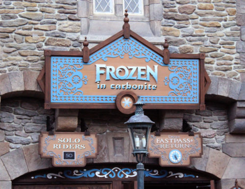 Disney's Frozen in Carbonite Ride replaces Frozen Ever After in honor of the Han Solo spin-off movie