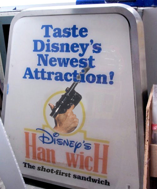 Disney's Handwich re-imagined as the Hanwich, after Han Solo