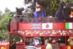 World Showcase character bus