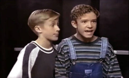Ryan Gosling and Justin Timberlake in the New Mickey Mouse Club