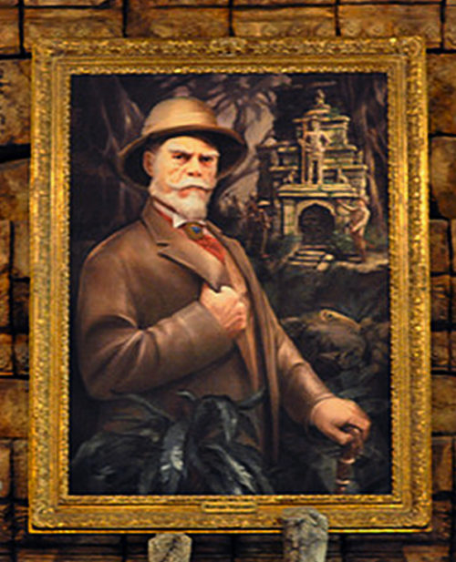Imagineer Joe Rohde as Harrison Hightower at Tower of Terror in Tokyo DisneySea
