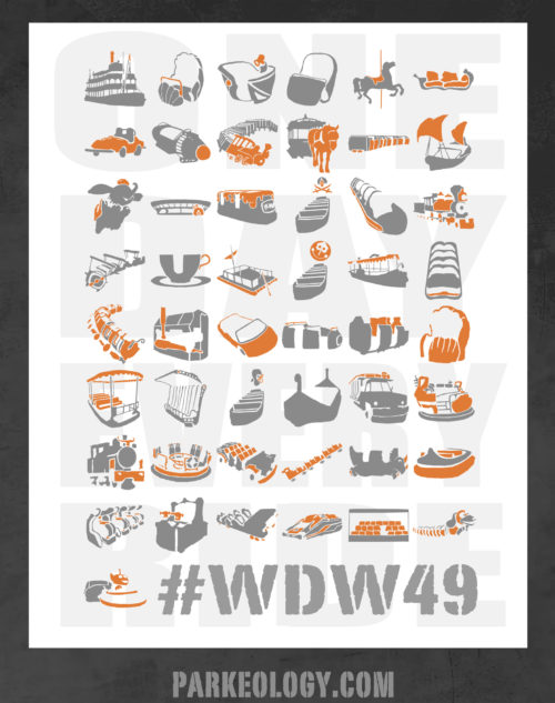 Parkeology WDW49 Challenge Ride Poster for 2018