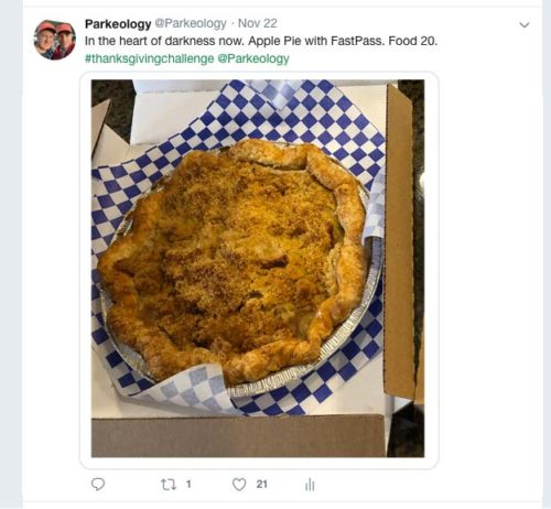 Apple Pie tweet