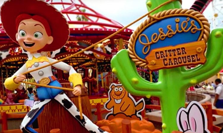 Jessie's Critter Carousel now open at Disney California Adventure