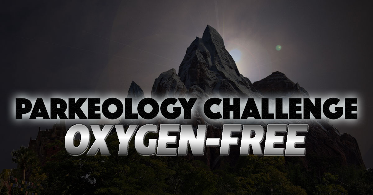 Parkeology Challenge Oxygen-Free banner