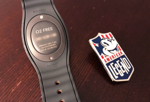 Oxygen Free magic band and Disney legend pin