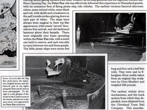 E-ticket Magazine showing Peter Pan's Flight over London
