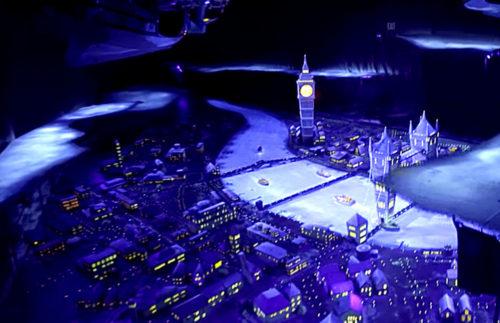 Peter Pan's Flight over London with Big Ben and Tower Bridge