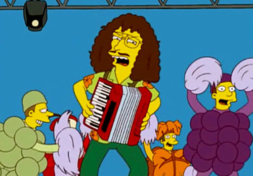 Weird Al Yankovic plays accordion on the Simpsons