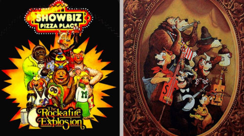 Showbiz Pizza and Country Bear Jamboree side-by-side