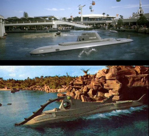 Submarine Voyage vs 20,000 Leagues Under the Sea Nautilus