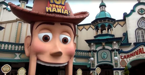 Woody's mouth is the entrance to Toy Story Mania at Tokyo DisneySea