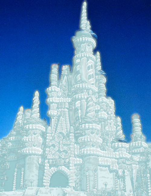 Cinderella Castle turned into a snow cake
