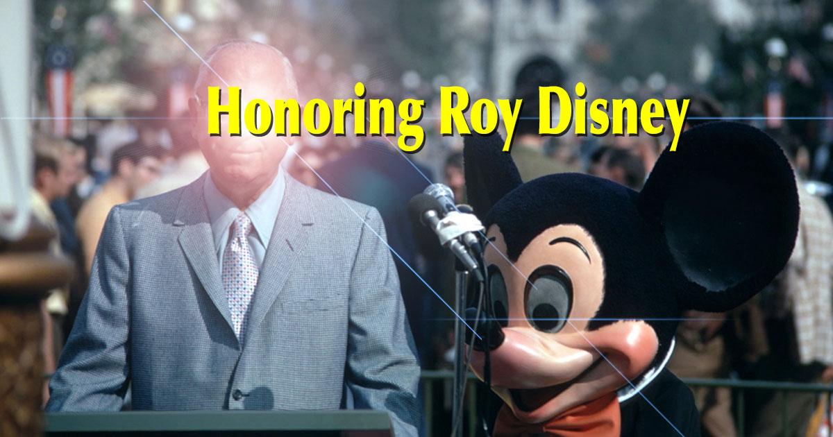 Roy Disney to receive One Man's Dream Style Exhibit