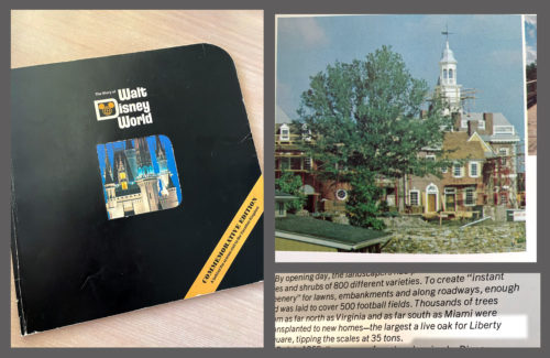 The Story of Walt Disney World from the very early 1980s highlights the Liberty Tree