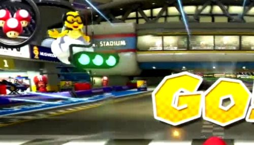 Mario Kart starting line