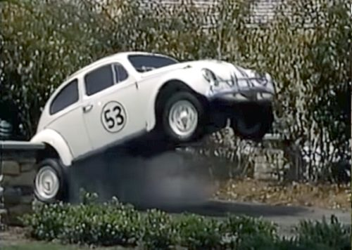 Animatronic Herbie the Love Bug on Residential Street at Disney MGM Studios